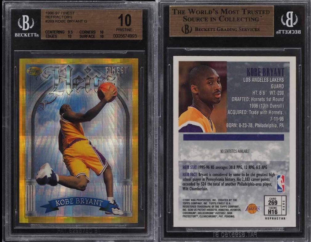 Best Kobe Bryant Rookie Cards