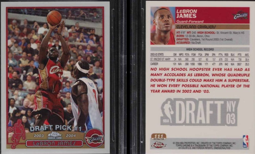 Lebron James Rookie Card Value 5 Most Expensive Some To Invest In