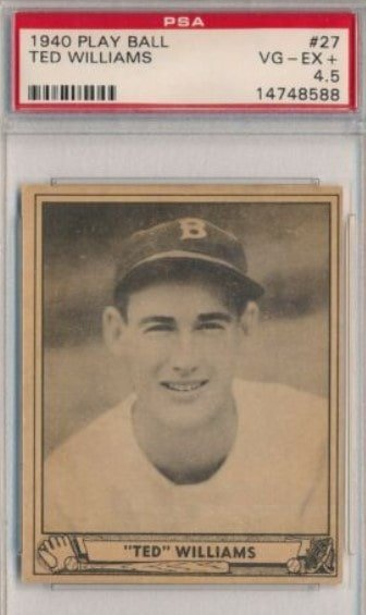 1940 Play Ball #27 Ted Williams