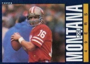 1985 Topps Joe Montana #157