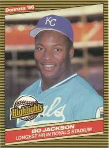 1986 Donruss Highlights Bo Jackson RC