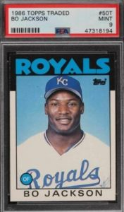 1986 Topps Traded Bo Jackson RC #50T