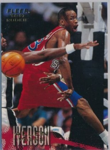 1996/97 Fleer Allen Iverson RC #235