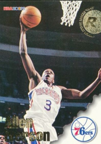 1996/97 NBA Hoops Allen Iverson RC #295