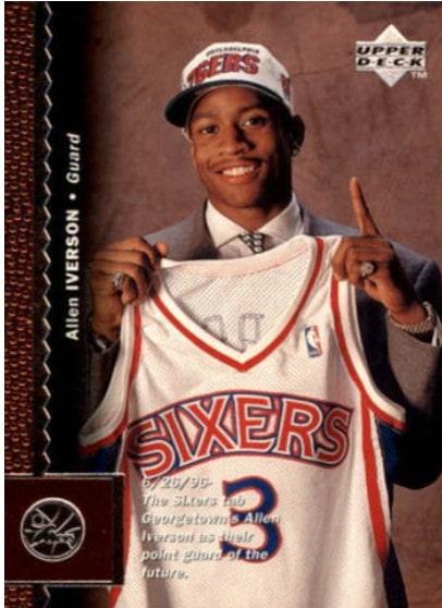 1996/97 Upper Deck Allen Iverson RC #91