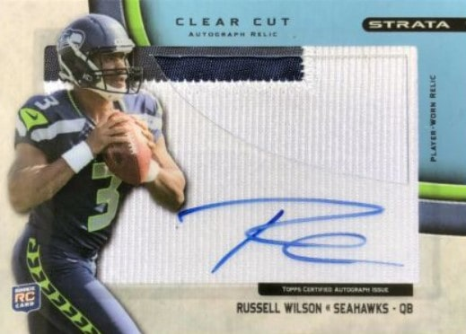 2012 Topps Strata Russell Wilson Patch Auto RC #75