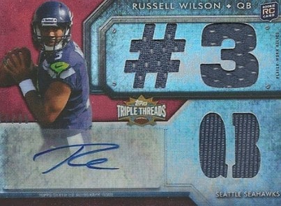2012 Topps Triple Threads Russell Wilson RC Auto #131