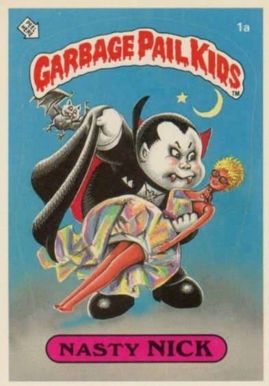 1985 Garbage Pail Kids #1a Nasty Nick