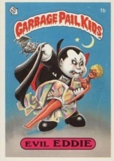 1985 Garbage Pail Kids #1b Evil Eddie