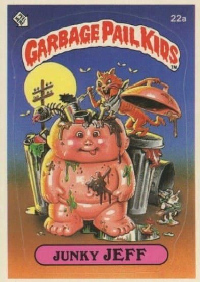 1985 Garbage Pail Kids #22a Junky Jeff