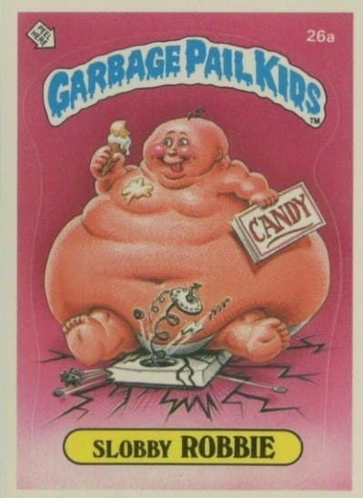1985 Garbage Pail Kids #26a Slobby Robbie