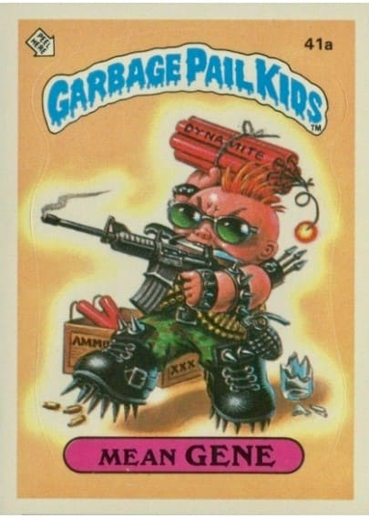 1985 Garbage Pail Kids #41a Mean Gene