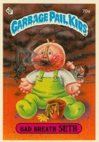 1985 Garbage Pail Kids #70a Bad Breath Seth