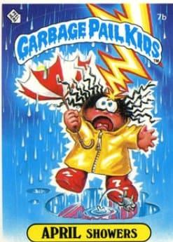 1985 Garbage Pail Kids #7b April Showers