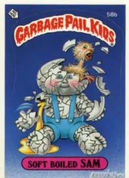 1985 Garbage Pail Kids Series 2 #58b Soft Boiled Sam