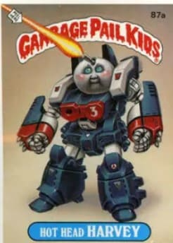 1986 Garbage Pail Kids Series 3 #87a Hot Head Harvey