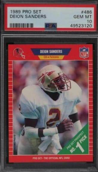 1989 Pro Set Deion Sanders RC #486