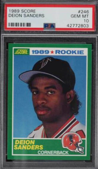 1989 Score Deion Sanders RC #246