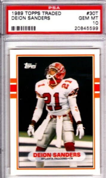 1989 Topps Traded Deion Sanders RC #30T