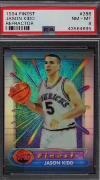 1994 Finest Refractor Jason Kidd RC #286