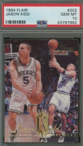 1994 Flair Jason Kidd Rookie Card #202