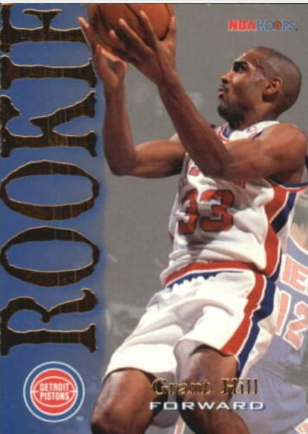 1994 Hoops Grant Hill Rookie Card #322