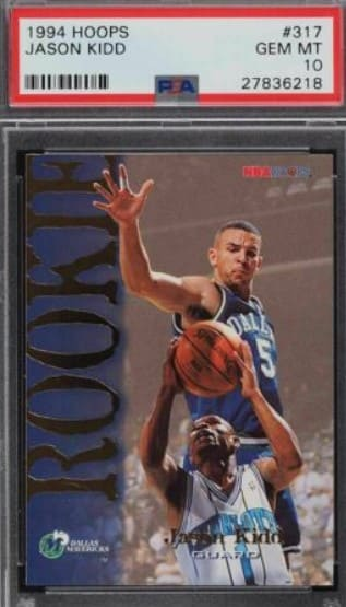1994 Hoops Jason Kidd RC #317