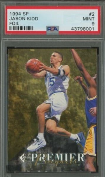 1994 SP Foil Die-Cut Jason Kidd Rookie Card #D2