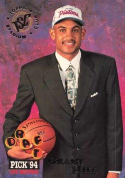 1994 Topps Stadium Club Grant Hill Rookie Card #181