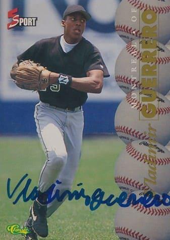 1995 Classic 5 Sports Autographs Vladimir Guerrero