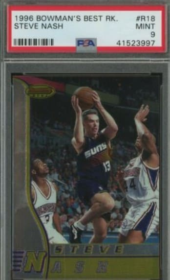1996/97 Bowman's Best Steve Nash Rookie Card #R18