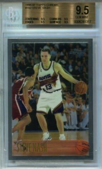 1996/97 Topps Chrome Steve Nash Rookie Card #182