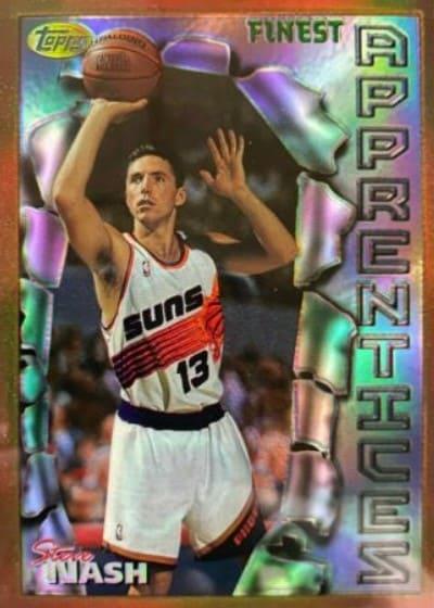 1996/97 Topps Finest Steve Nash Rookie Card #75/#217