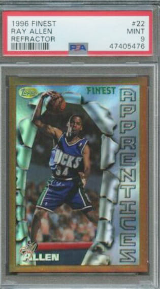 1996 Finest Ray Allen RC #22