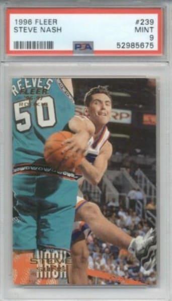 1996 Fleer Steve Nash Rookie Card #239