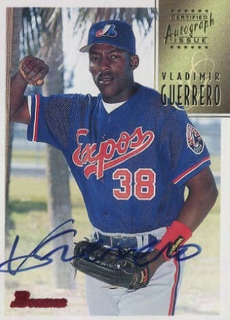 1997 Bowman Certified Blue Ink Autographs Vladimir Guerrero #BA33