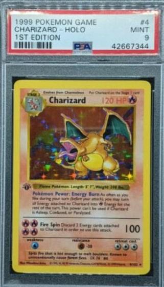 1999 Pokemon Game Charizard Holo 1st Edition #4
