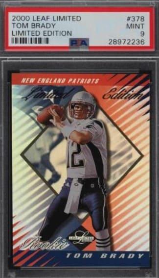 2000 Leaf Limited Tom Brady RC #378