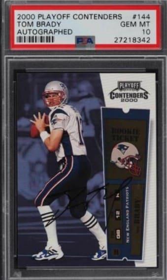 2000 Playoff Contenders Tom Brady RC #144