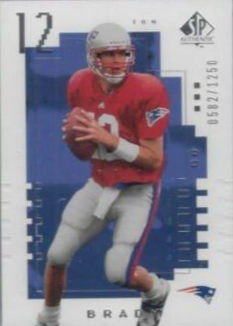 2000 SP Authentic Tom Brady Rookie Card #118