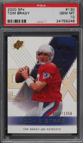 2000 SPx Football Tom Brady RC #130