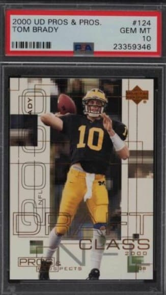 2000 Upper Deck Pros and Prospects Tom Brady RC #124