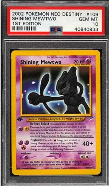 2002 NEO Destiny Shining Mewtwo Holo #109 1st Edition