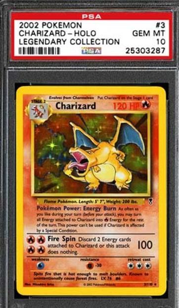 2002 Pokemon Legendary Collection Charizard Holo #3