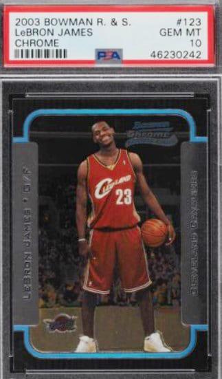 2003 Bowman Chrome LeBron James RC #123