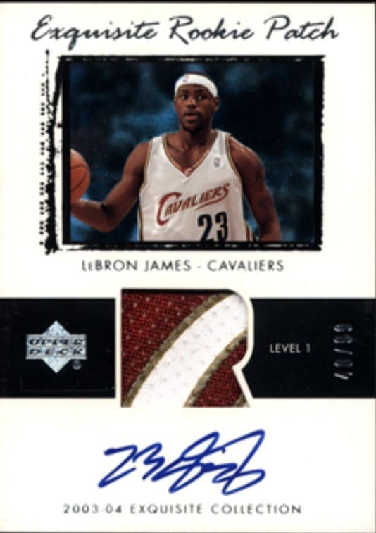 2003 Exquisite Collection LeBron James Rookie Card Patch Auto