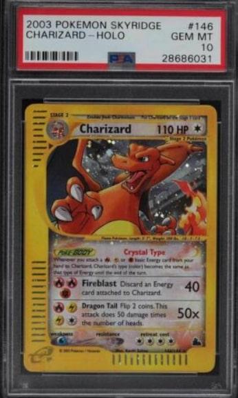 2003 Pokemon Skyridge Charizard Holo #146