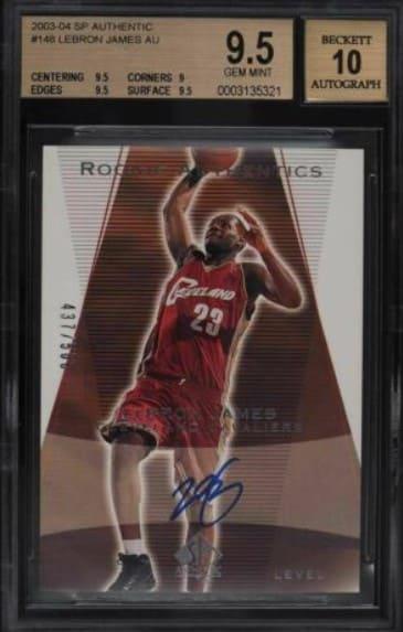 2003 SP Authentic LeBron James RC #148 /500