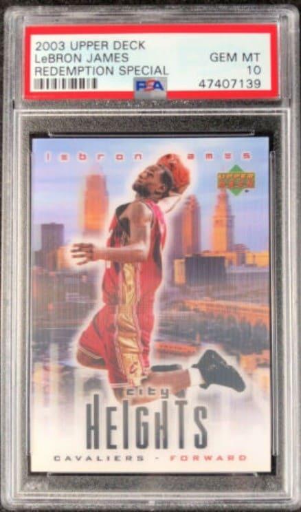 2003 Upper Deck City Heights LeBron James RC