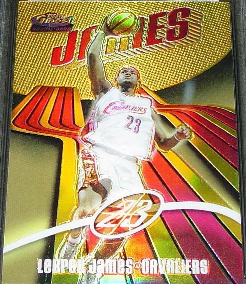 2003 Finest LeBron James Rookie Card #133 /999 + Refractors